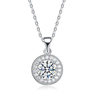 Collette Z Sterling Silver Cubic Zirconia Round Shape Necklace