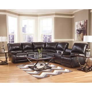 Signature Motion by Ashley Capote Chocolate Sectional Sofa