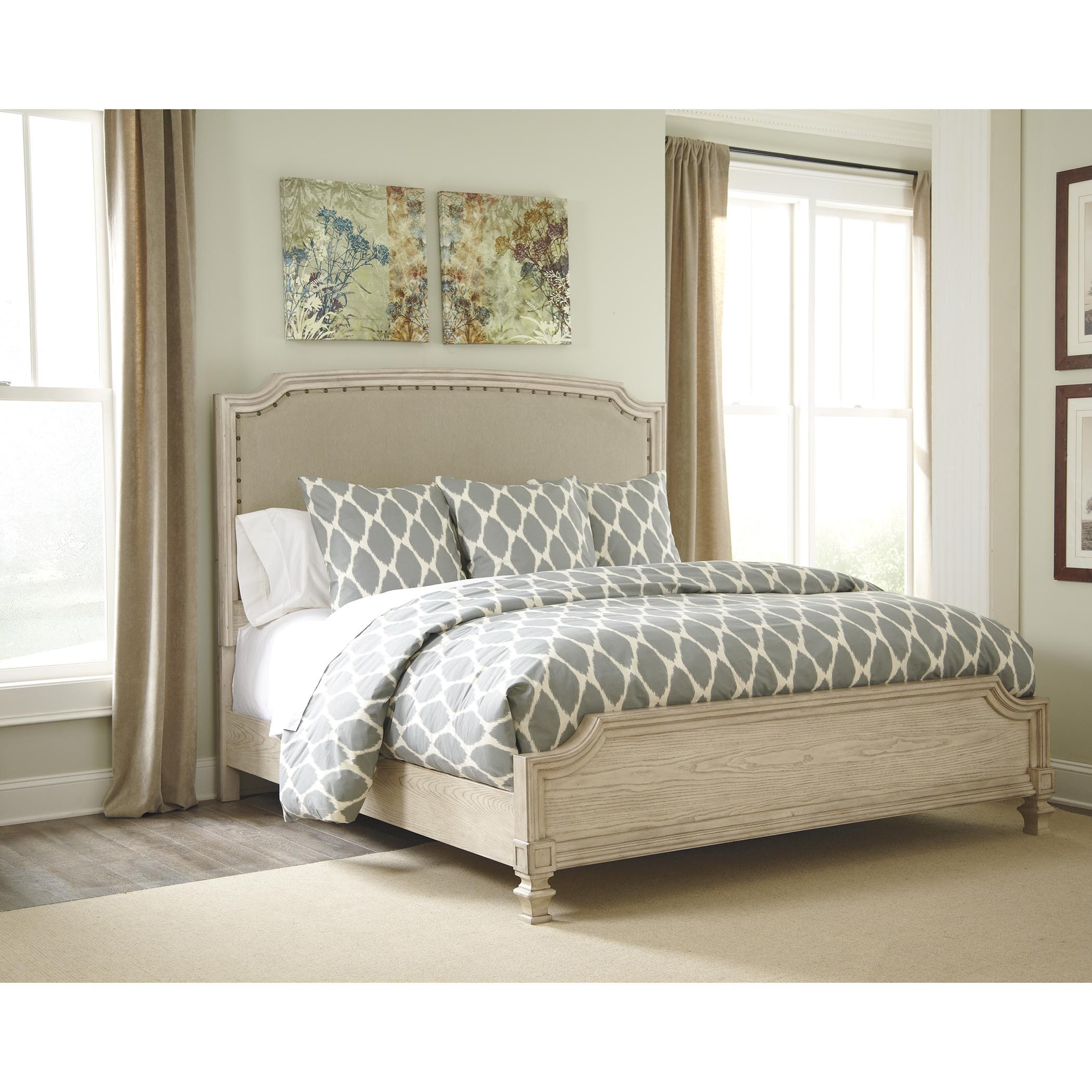 Ashley Demarlos Arched Top Panel Bed (King Panel Bed with...