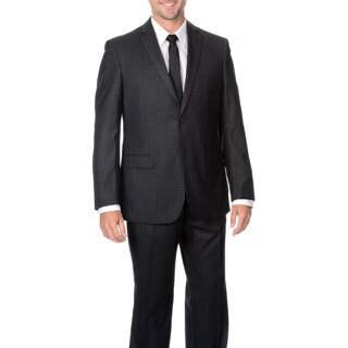 Insignia Collezione Men's 2 Pcs Charcoal Suit