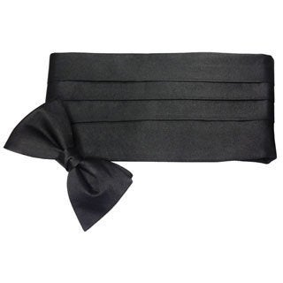 Ike Behar Men's Silk Cummerbund and Bow Tie Set