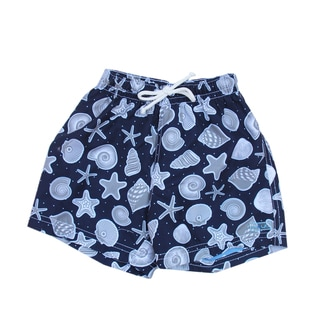 Azul Swimwear Boys' Navy Shells Swim Shorts