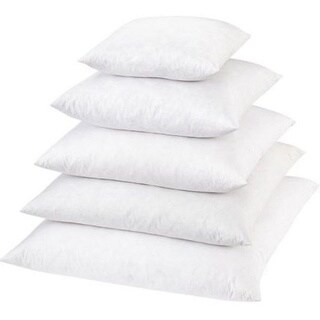 Down Feather 12-inch Square Pillow (White)
