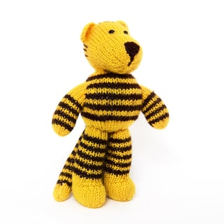 Sitara Collections Handmade Plush Tiger Doll (India)