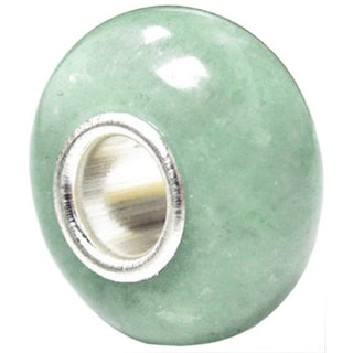 Queenberry Aventurine Roundelle Sterling Silver Charm Bead