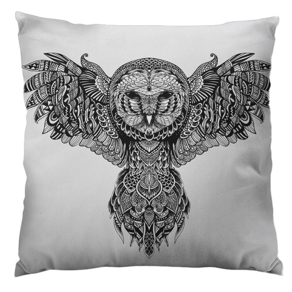 Majestic Owl Throw Pillow
