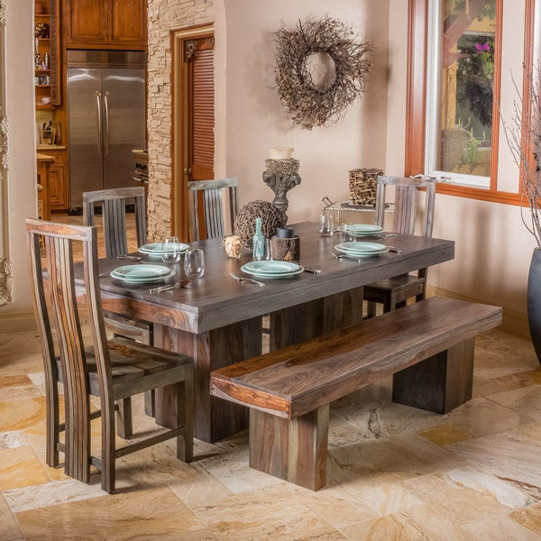 Shop christopher knight home russett and grey toned dining table christopher knight home russett and grey toned dining table watchthetrailerfo