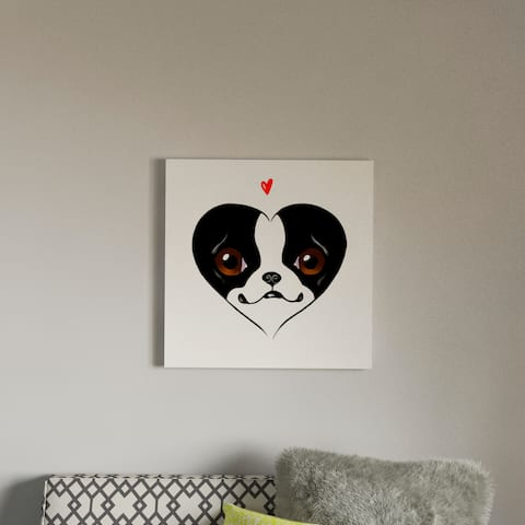 Porch & Den Brian Rubenacker BT Heart Card Canvas Print Wall Art