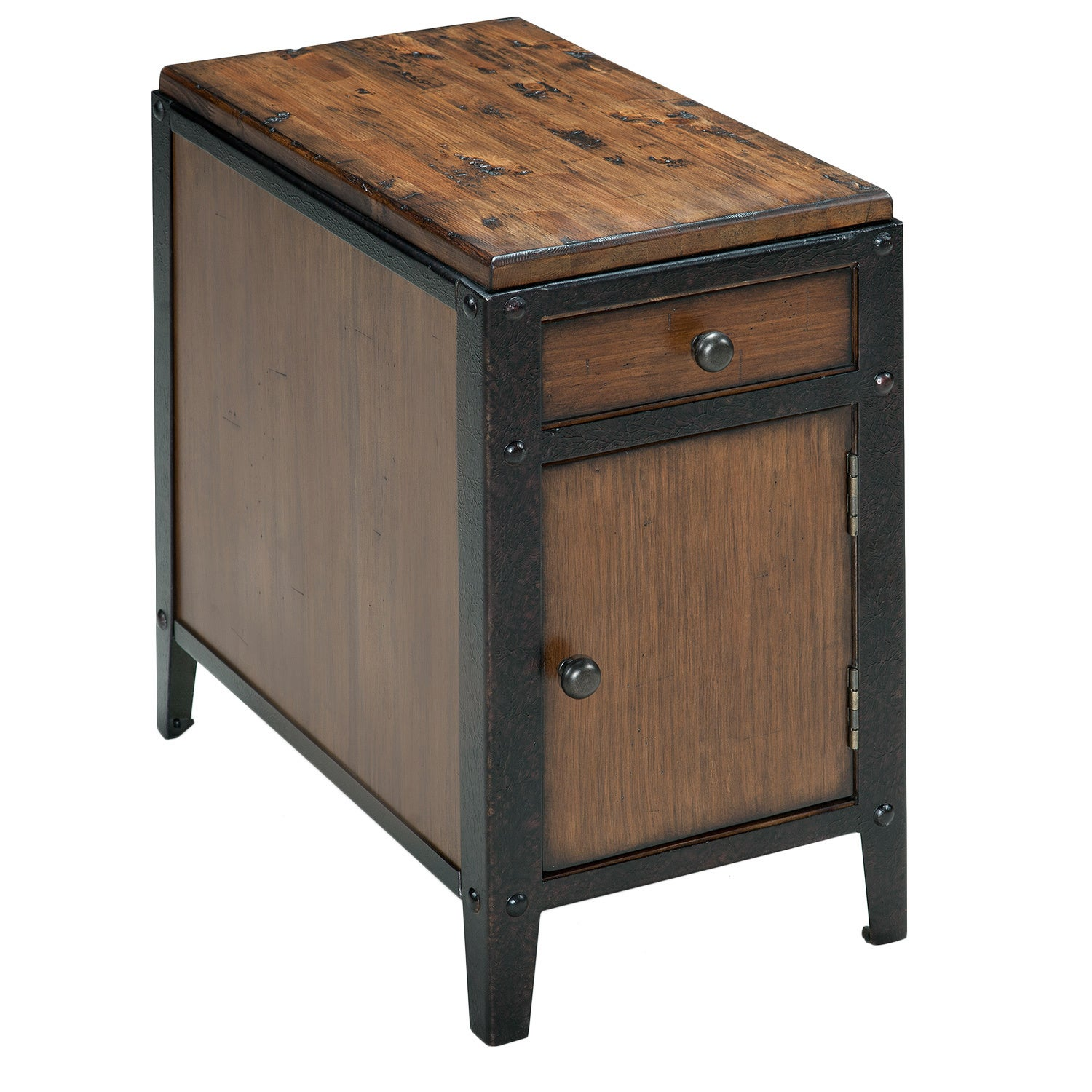 Industrial Storage Coffee Table Review: Shop Pinebrook Industrial Distressed Natural Pine Storage