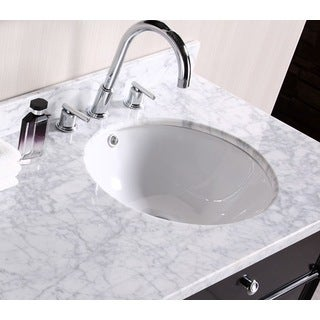 Round White Undermount Sink