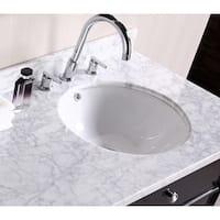 Round White Undermount Sink
