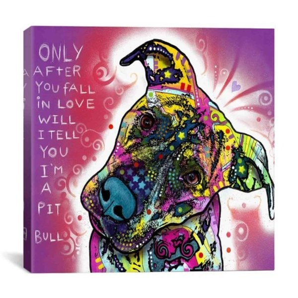 iCanvas Dean Russo I'm a Pit Bull Canvas Print Wall Art