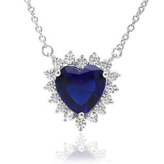 Blue Box Jewels Blue CZ Heart-shaped Fashion Necklace