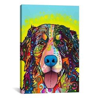 iCanvas Dean Russo Burnese Mountain Dog Canvas Print Wall Art