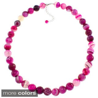 Pearlz Ocean Banded Agate Faceted Necklace