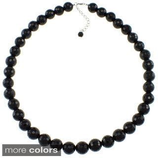 Pearlz Ocean Faceted Bead Necklace (Option: Tigers Eye)|https://ak1.ostkcdn.com/images/products/9624338/P16810622.jpg?impolicy=medium