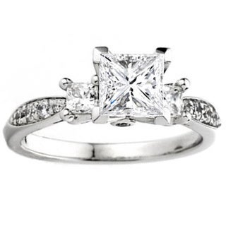 Elora 14k White Gold 1/3ct TDW Diamond Bridal Semi-mount Engagement Ring