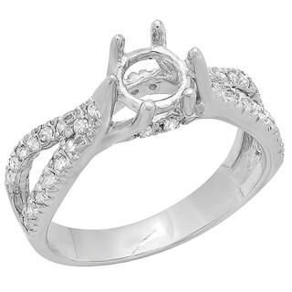 Elora 14k White Gold 2/5ct TDW Round Diamondsemi Mount Ring (H-I, I1-I2)