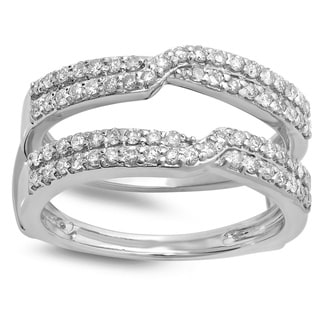 14k White Gold 5/8ct TDW Round-cut Diamond Wedding Ring (H-I, I1-I2)