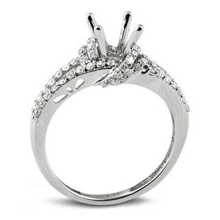 Elora 14k White Gold 3/5ct TDW Round Diamond Bridal Semi Mount Ring (H-I, I1-I2)