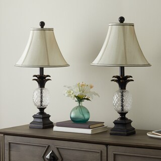 Abbyson Alexandra Antiqued Bronze Pineapple Table Lamps (Set of 2)