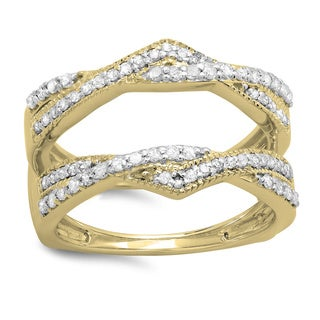 Elora 14k Yellow Gold 1/2ct TDW Diamond Enhancer Ring (H-I, I1-I2)