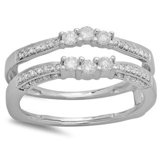 14k White Gold 1/2ct TDW Diamond Ring (H-I, I1-I2)