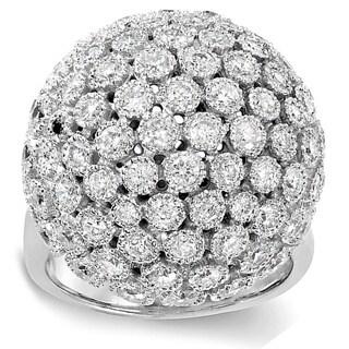 14k White Gold 3 1/4ct TDW Pave Diamond Dome Ring (H-I, I1-I2)
