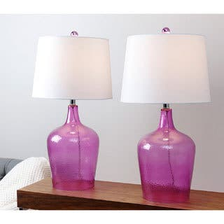 Abbyson Azure Purple Glass Table Lamp (Set of 2)|https://ak1.ostkcdn.com/images/products/9624613/P16810823.jpg?impolicy=medium