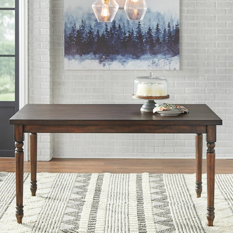 """Simple Living Burntwood Dining Table - Grey - 29""""h x 60""""w x 36""""d"""