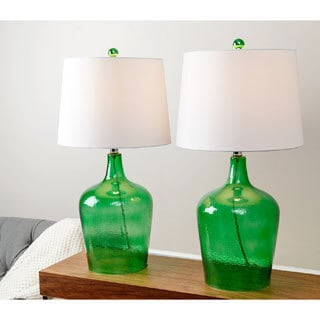 ABBYSON LIVING Azure Jade Glass Table Lamp (Set of 2)