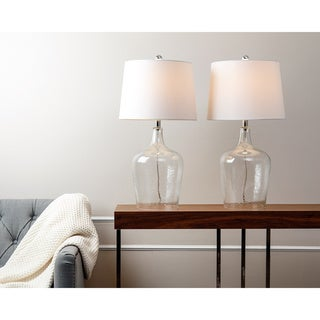ABBYSON LIVING Azure Clear Glass Table Lamp (Set of 2)