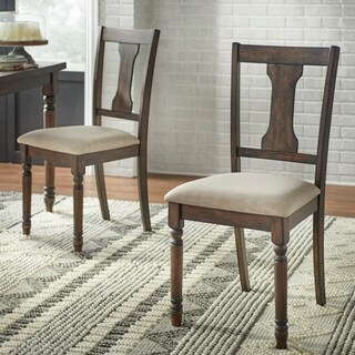 Simple Living Burntwood Dining Chairs (Set of 2) - N/A
