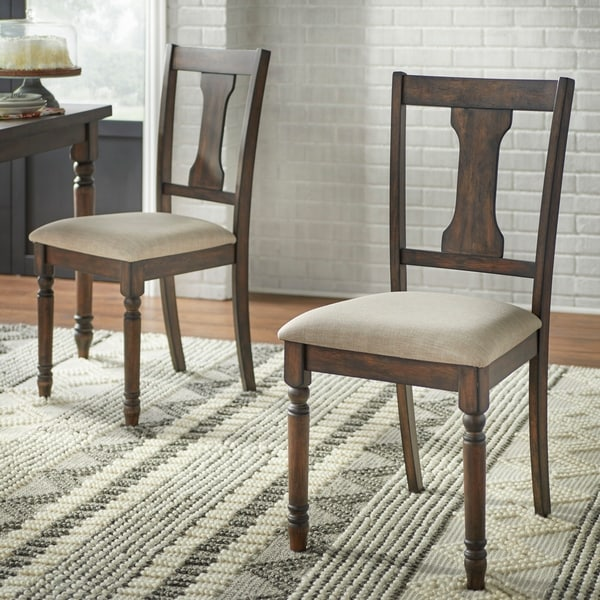 Simple Living Burntwood Dining Chairs (Set of 2). Opens flyout.