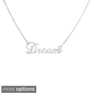 14k Goldplated Sterling Silver Script 'Dream' Necklace