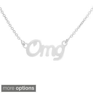 14k Goldplated Sterling Silver Script 'OMG' Word Necklace