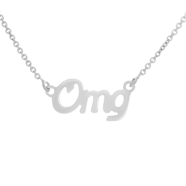 Goldplated Sterling Silver Script 'Omg' Word Necklace