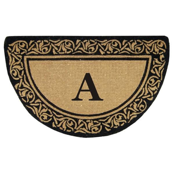 Heavy Duty Coir Decorative Bella Border Monogrammed Doormat