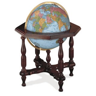 Statesman Blue Large Illuminated Floor Globe