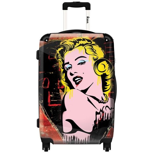 iKase Marilyn Pop Art 24-inch Hardside Spinner Upright Suitcase