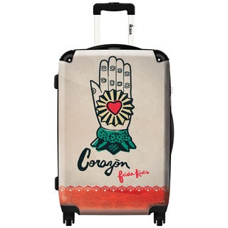 iKase Corazon by Frida Kahlo 24-inch Hardside Spinner Upright Suitcase