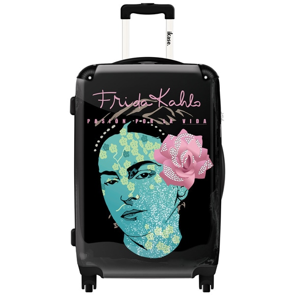 iKase Frida Kahlo Self Portrait 24-inch Hardside Spinner Upright Suitcase