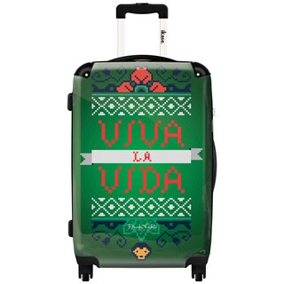 iKase Viva La Vida by Frida Kahlo 24-inch Hardside Spinner Upright Suitcase