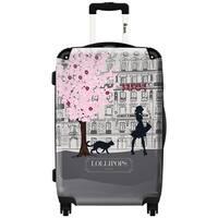 iKase Grey Lollipops 24-inch Hardside Spinner Upright Suitcase
