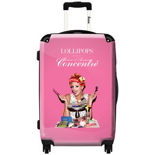 iKase Be My Guest Lollipops 24-inch Hardside Spinner Upright Suitcase