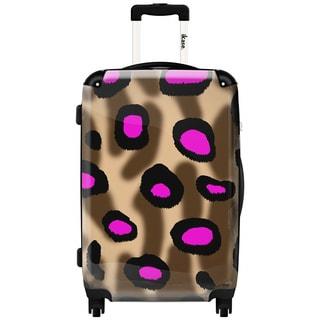 iKase Pink Panther Pattern 24-inch Hardside Spinner Upright Suitcase