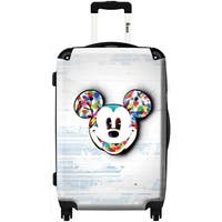 iKase Mickey Multi-color 24-inch  Hardside Spinner Upright Suitcase