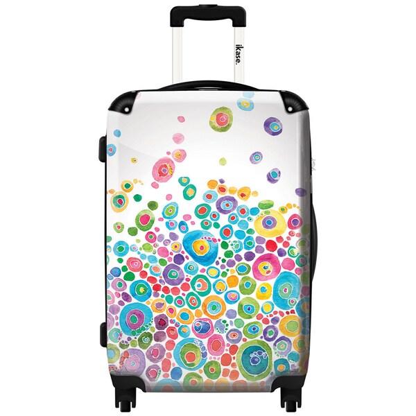 iKase Bubble Splash Multi-colored 24-inch Hardside Spinner Upright Suitcase