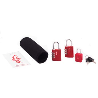 Safe Skies TSA-Recognized Luggage Lock, Tag, and Grip Set