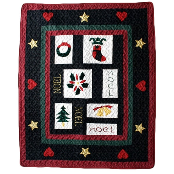 Christmas Greetings Quilted Throw